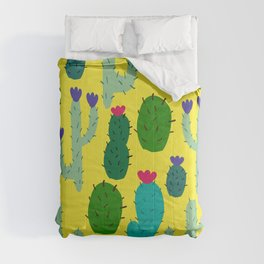 funny cacti Comforters