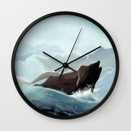 Mermaid in the Light Wall Clock