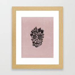 Flowery Skull Framed Art Print