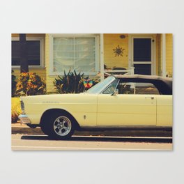 UP-CLOSE YELLOW CAR Canvas Print