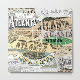 Atlanta map Metal Print