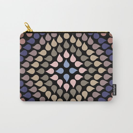 Seamless Colorful Raindrops V Carry-All Pouch