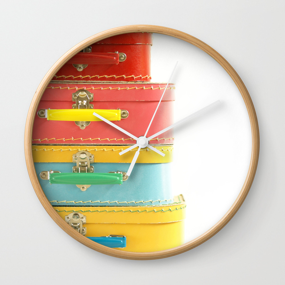 Vintage Suitcases... Wall Clock by machelspence