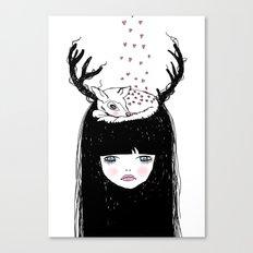 Bambi & moi Canvas Print