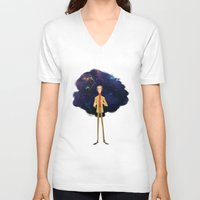 sagan V-neck T-shirts featuring Carl Sagan by Alan Carvalho