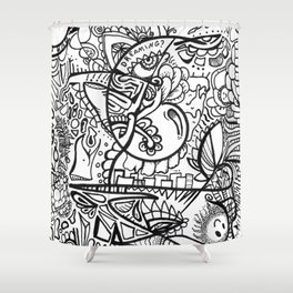 Dreaming? marker zendoodle Shower Curtain