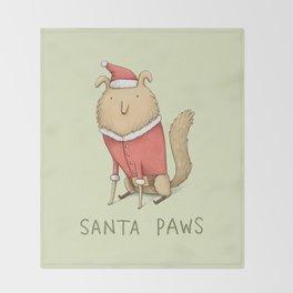 Santa Paws Throw Blanket