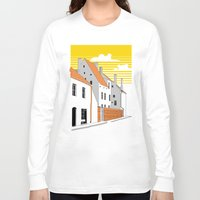 medieval Long Sleeve T-shirts featuring Medieval houses by LaDa