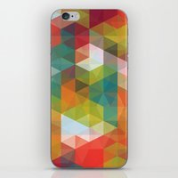 transparent iPhone & iPod Skins featuring Transparent Cubism by All Is One