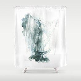 Haunted Ballerina Shower Curtain