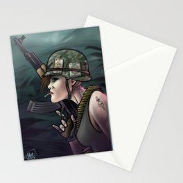 AK47 Soldier Girl Stationery Cards