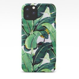 Tropical Banana leaves pattern iPhone Case