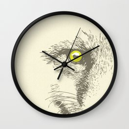 Art print: The Fox face Wall Clock