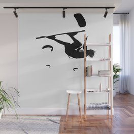 Freestyle Kiteboarder Turning The Whole World Upside Down Wall Mural