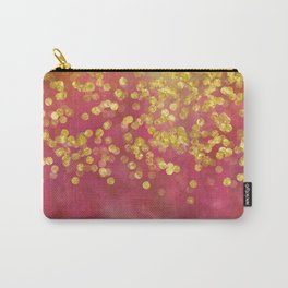 Golden Sparkles on Red Carry-All Pouch