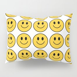 Smiley Face Pattern - White Background Variant Pillow Sham