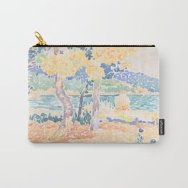 Pines on the Coastline by Henri-Edmond Cross, French Carry-All Pouch