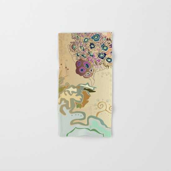 Beige reef Hand & Bath Towel