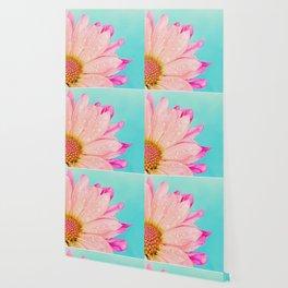 Retro pastel summer daisy Wallpaper