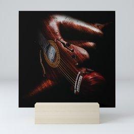 Guitar Woman Mini Art Print