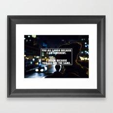Being Different Framed Art Print