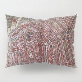 Replica city map of Amsterdam 1652 Pillow Sham
