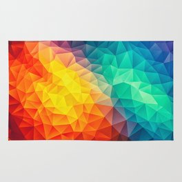 Abstract Multi Color Cubizm Painting Rug