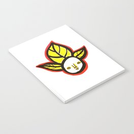 Yellow Leaf Babe Notebook