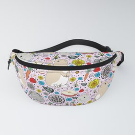 Pink Bunny Pattern Fanny Pack