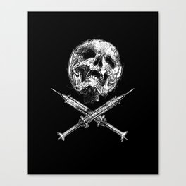 Skull and Syringes Canvas Print