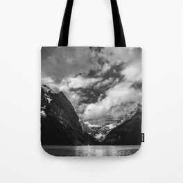 Lake Louise Black and White Minimalism Photography | Black and White | Photography Tote Bag
