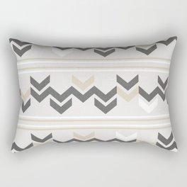 Geometric Arrowhead Charcoal Gold And White Grunge Pattern Rectangular Pillow