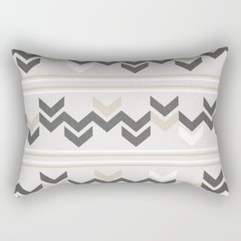 Geometric Arrowhead Charcoal Gold And White Grunge Pattern Rectangular Pillow