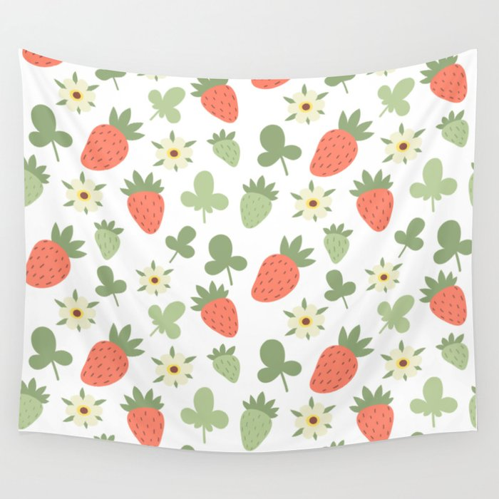 Stawberry Pattern Wall Tapestry