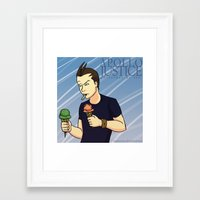 ace attorney Framed Art Prints featuring Apollo Justice: Attorney at Law by Kryptocow