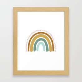Boho Rainbow Framed Art Print