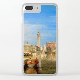 """J.M.W. Turner """"Bridge of Sighs, Ducal Palace and Custom-House, Venice"""" Clear iPhone Case"""