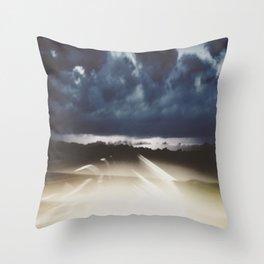 Midnight Highway Throw Pillow