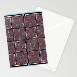 number 143 aqua blue white black pattern Stationery Cards