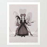 hocus pocus Art Prints featuring Hocus Pocus by Sam Pea