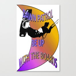 Dawn Patrol - Orange Be Up With The Boards Kitesurf Canvas Print