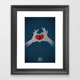I  Heart NJ Framed Art Print