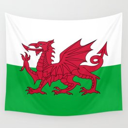 Welsh Flag of Wales Wall Tapestry