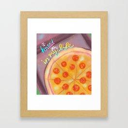 I knead you - pizza love Framed Art Print