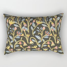 Dark Botanical Story Rectangular Pillow
