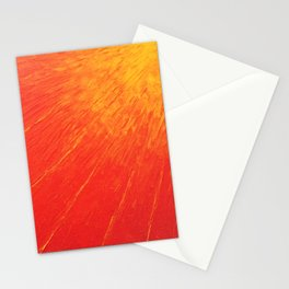 Abstract oil painting sun Stationery Cards