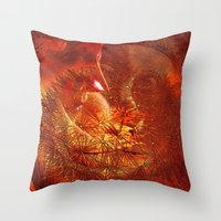 beauty and the beast Throw Pillows featuring beauty and the Beast by  Agostino Lo Coco
