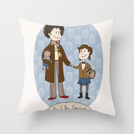 Dr Who Fangirls Throw Pillow