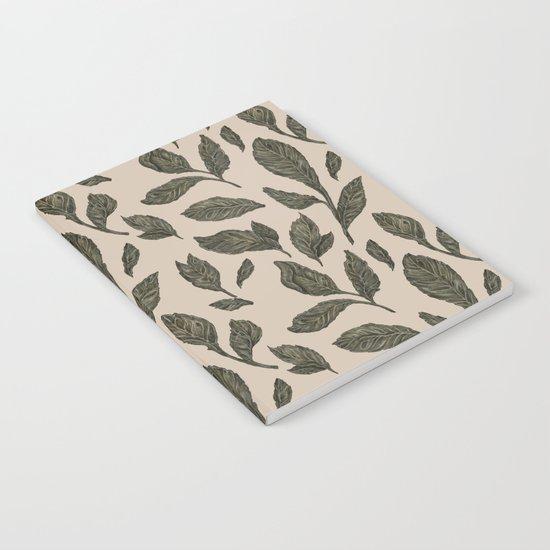 Leaf Pattern Notebook