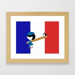 b for baguette Framed Art Print